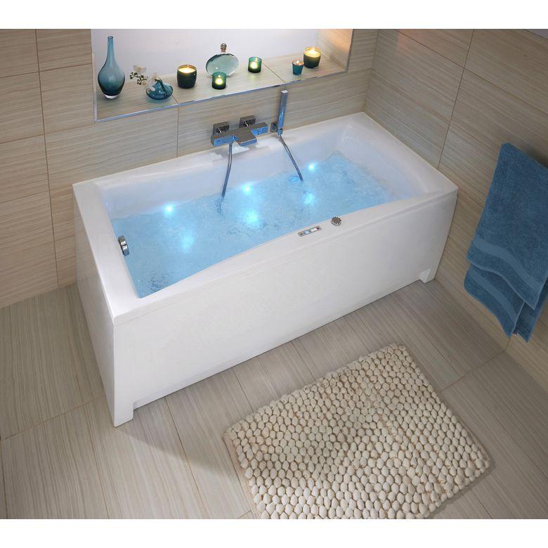 Tablier frontal pour baignoire baln o droite lagune for Dimension baignoire droite