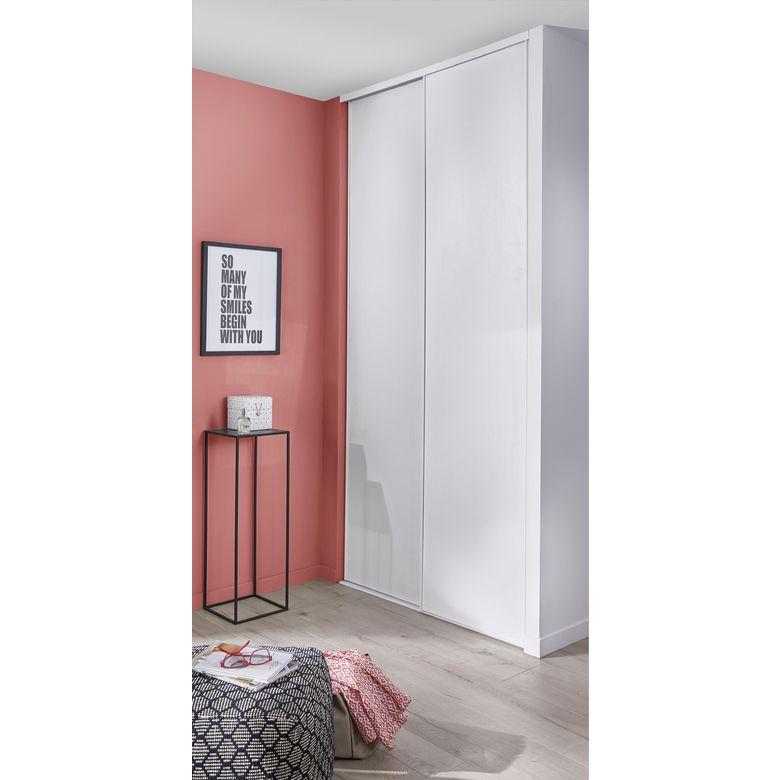 porte de placard coulissante glisseo d cor blanc vein. Black Bedroom Furniture Sets. Home Design Ideas