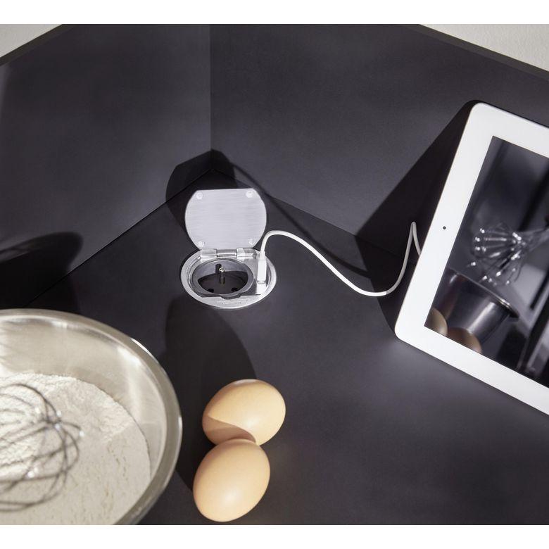 Prise simple clapet 1 prise 1 usb cuisine - Prise encastrable plan de travail ...