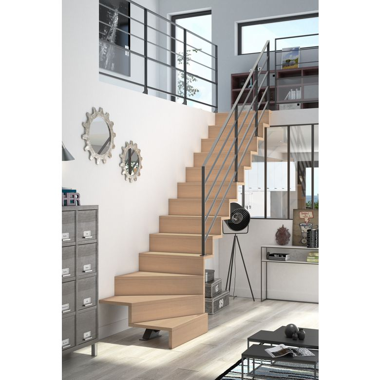 escalier gain de place quart tournant quart tournant nicolas dupriez escaliers bois escalier 1. Black Bedroom Furniture Sets. Home Design Ideas
