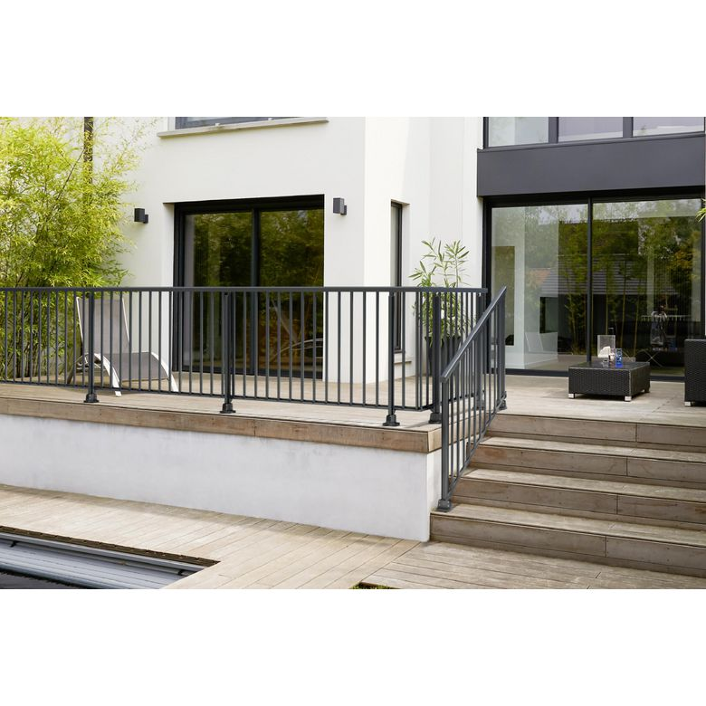 balustrade terrasse cool gardecorps de terrasse en aluminium with balustrade terrasse latest. Black Bedroom Furniture Sets. Home Design Ideas