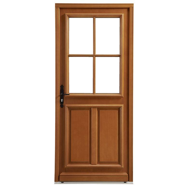 Porte d 39 entr e mirande bois exotique portes - Porte d entree bois lapeyre ...