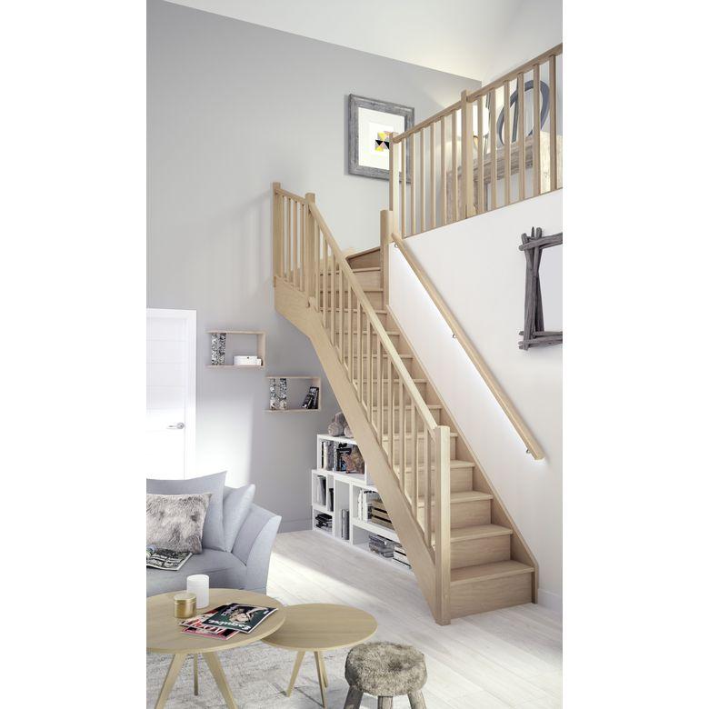Escalier bois 1 qt haut pack standard escaliers - Escalier helicoidal lapeyre ...