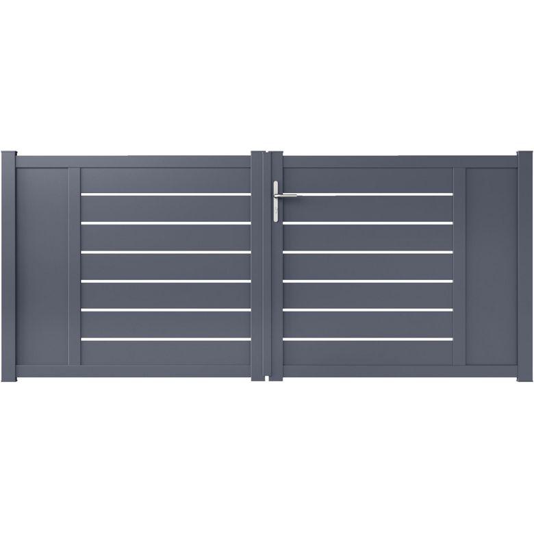 Portail Battant Aluminium Catane Ext Rieur