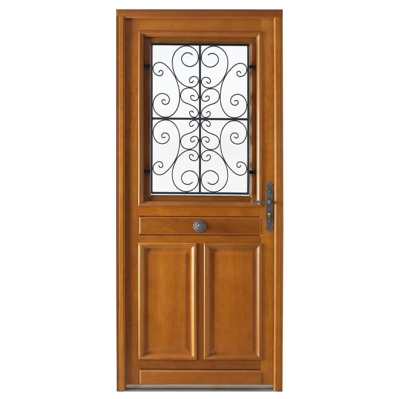 Porte d 39 entr e beaugency bois exotique menuis portes for Porte d entree bois prix
