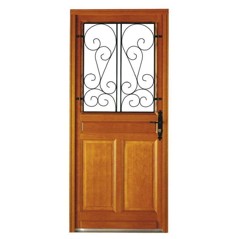 Porte d 39 entr e valli re bois exotique portes for Porte d entree lapeyre