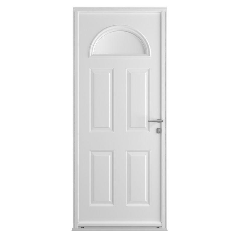 Porte d 39 entr e isis acier portes for Porte d entree lapeyre