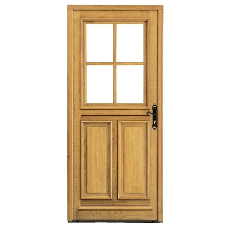 Porte d 39 entr e fougeres ch ne menuis portes - Porte en chene lapeyre ...