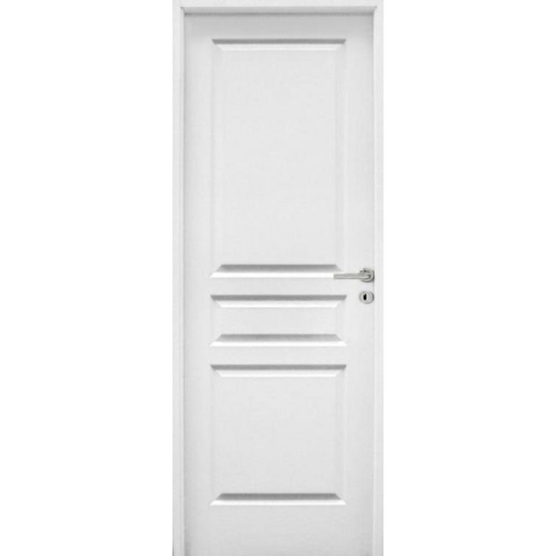 Bloc porte postform droite parement vein bois portes for Dimension standard porte interieur