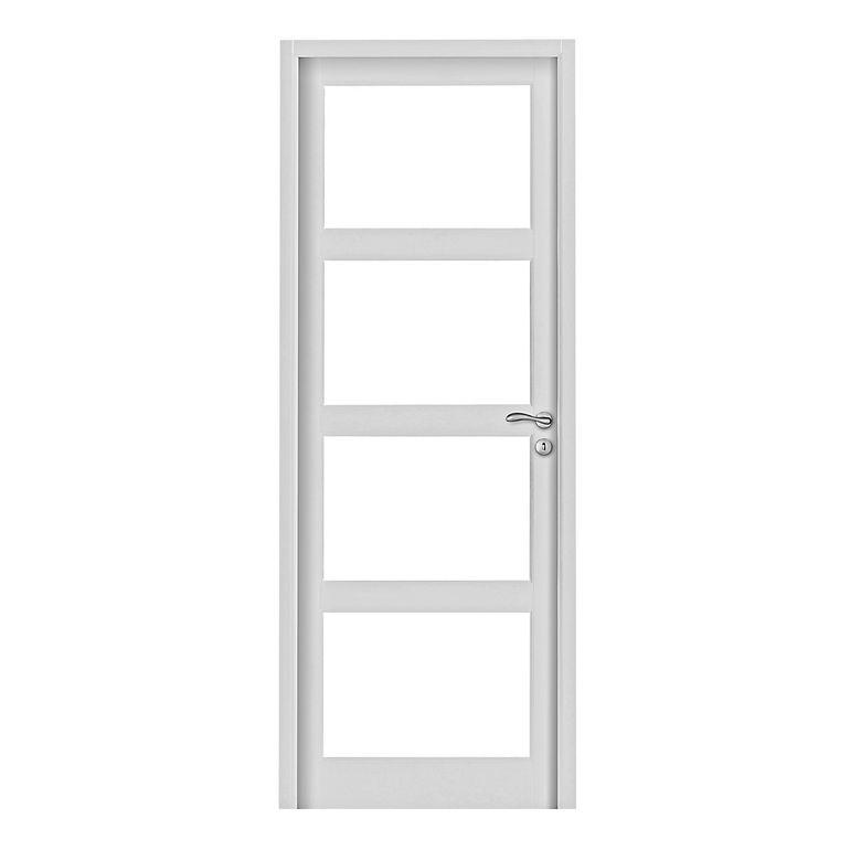 Bloc porte milan vitrer pr t peindre portes - Lapeyre porte interieure ...