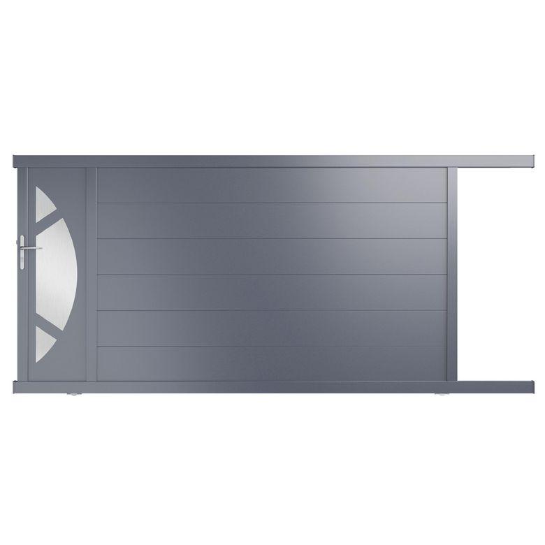 Portail coulissant aluminium volterra ext rieur for Portail coulissante exterieur