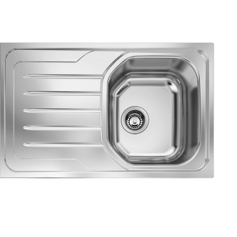 Evier encastrable odalie inox satin cuisine for Evier non encastrable