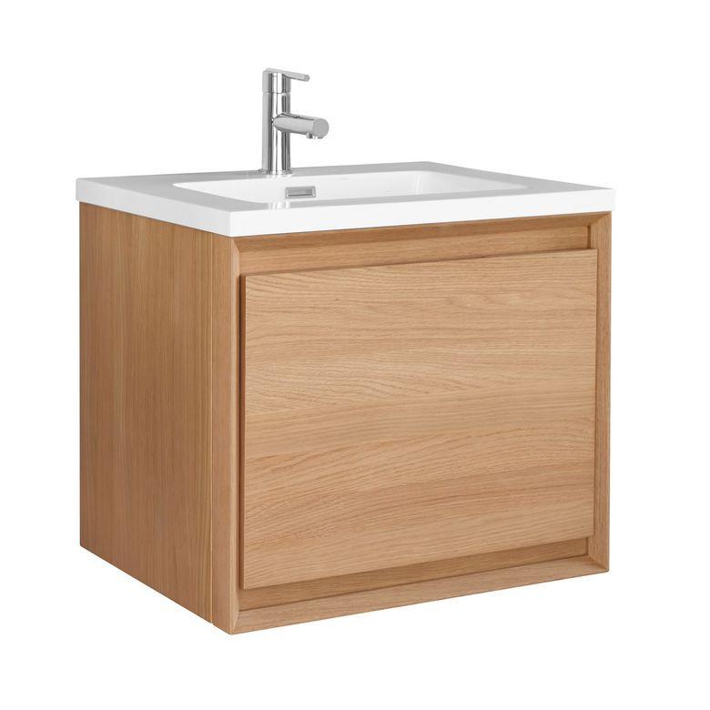meuble sous vasque avec plan r sine rio salle de bains