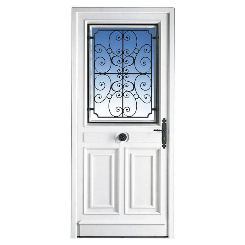 Porte d 39 entr e mansart pvc portes for Porte fenetre arrondie