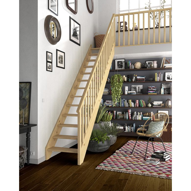 poser un escalier en bois. Black Bedroom Furniture Sets. Home Design Ideas