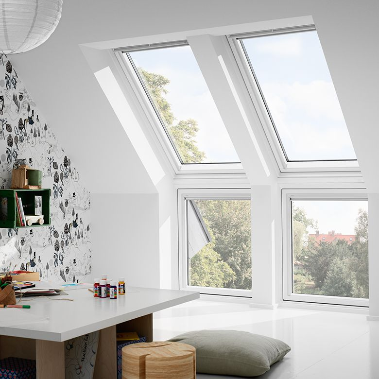 velux tout confort blanc everfinish rotation fen tres. Black Bedroom Furniture Sets. Home Design Ideas