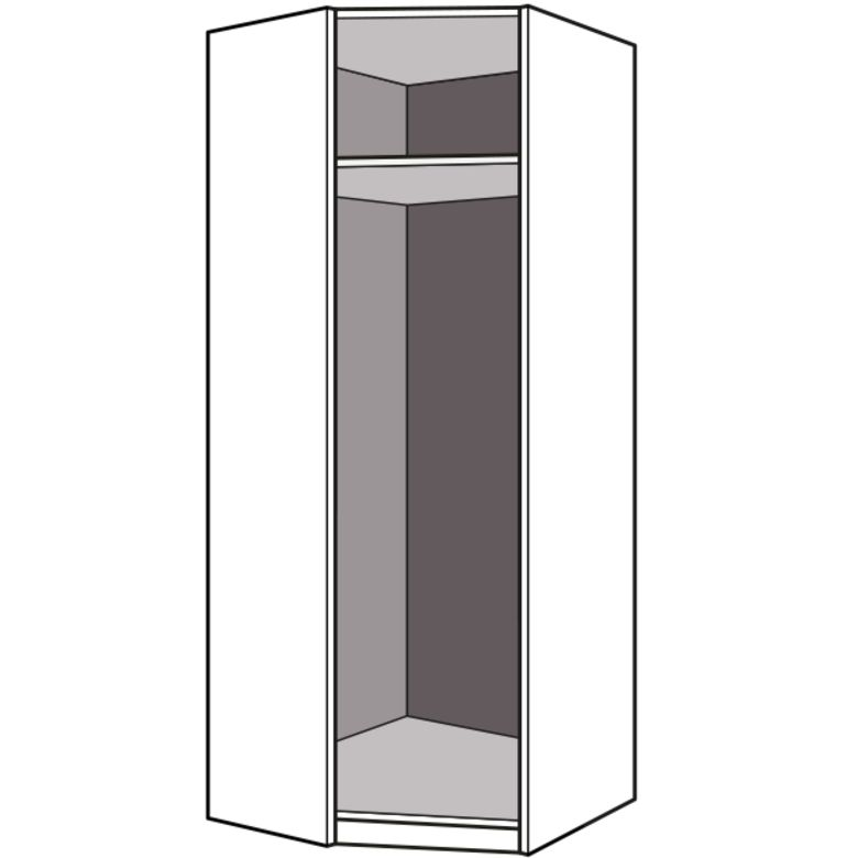 Dressing espace caissons d 39 angle 90 seul h 226 x p 50 cm rangements - Caisson rangement dressing ...