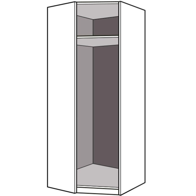 Dressing espace caissons d 39 angle 90 seul h 226 x p 50 cm rangements - Caisson angle dressing ...