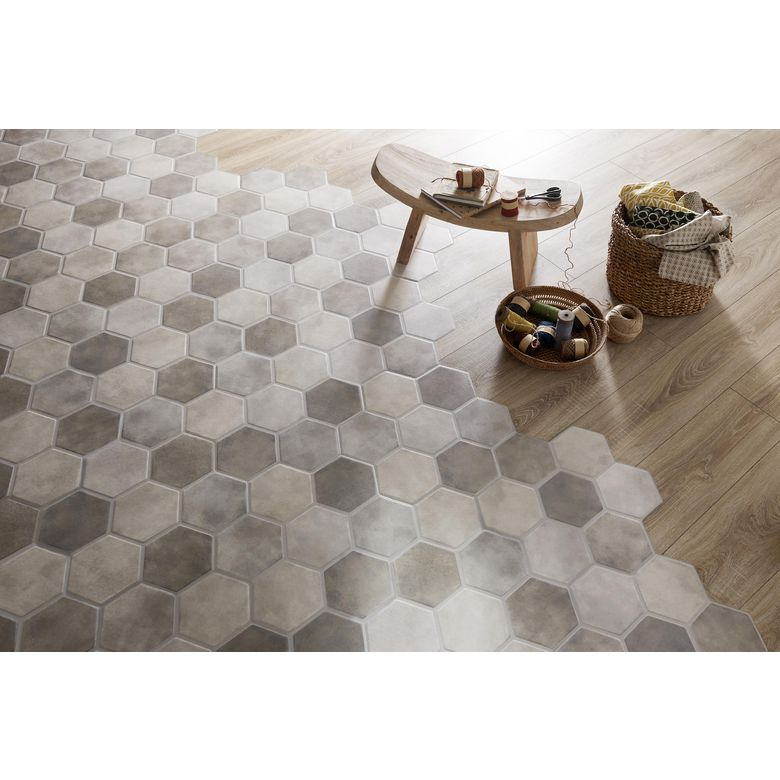 Carrelage faro 45 x 45 cm sols murs for Carrelage hexagonal parquet