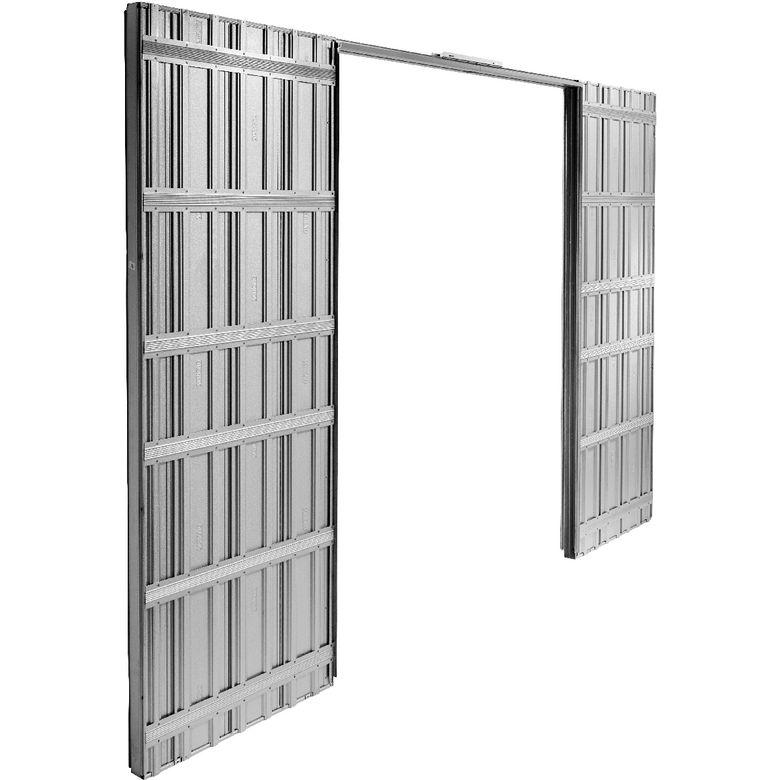 syst me coulissant prestige uno int gr pour 2 portes sans serrure avec poign e laiton portes. Black Bedroom Furniture Sets. Home Design Ideas