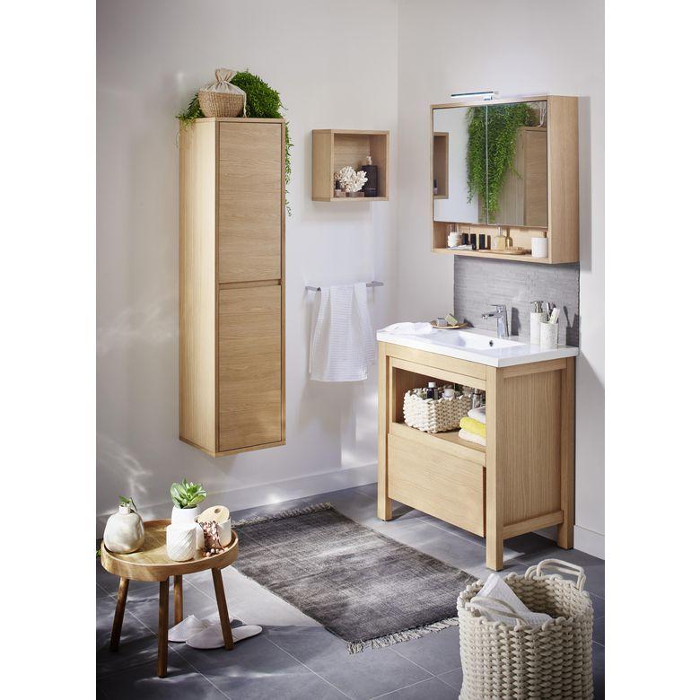 Meuble sous vasque lima sans plan salle de bains - Meuble vasque salle de bain lapeyre ...
