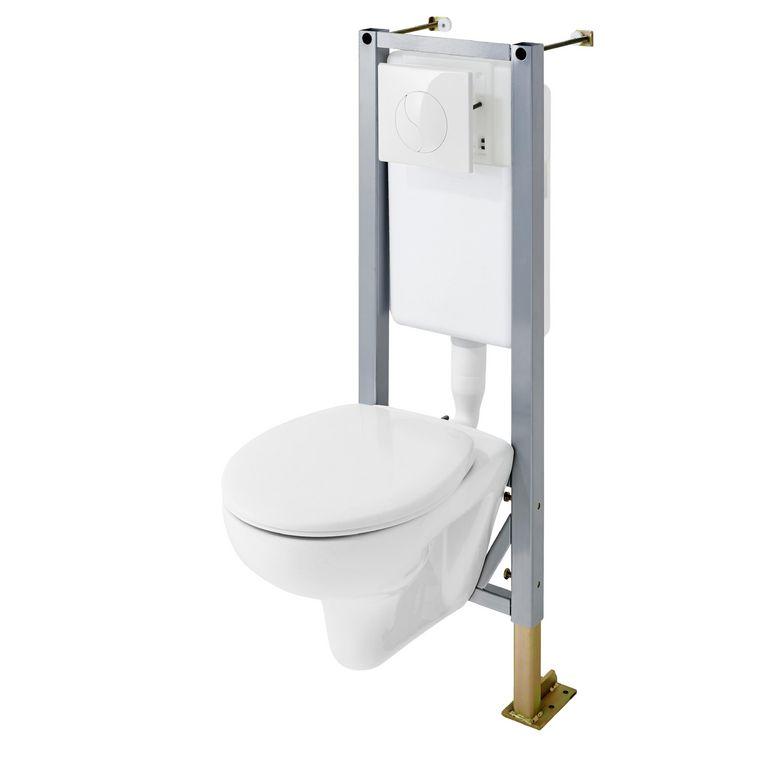 pack wc suspendu initial plus sol mur salle de bains. Black Bedroom Furniture Sets. Home Design Ideas