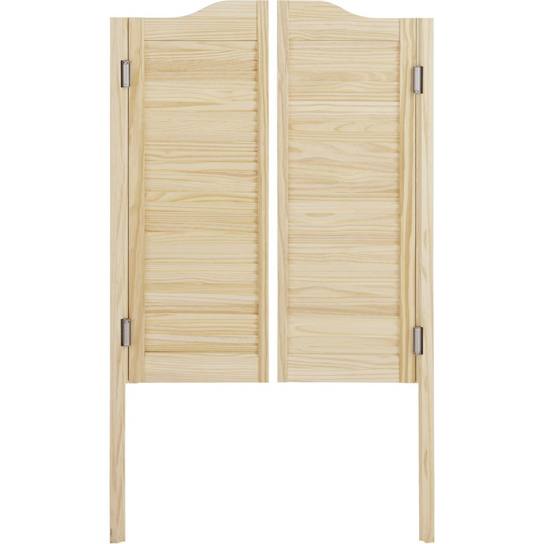 Portes saloon 2 vantaux portes for Porte de salon en bois