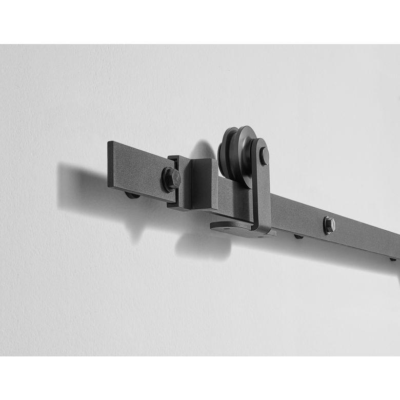 Syst me coulissant harlem en applique pour portes en bois for Systeme porte coulissante lapeyre