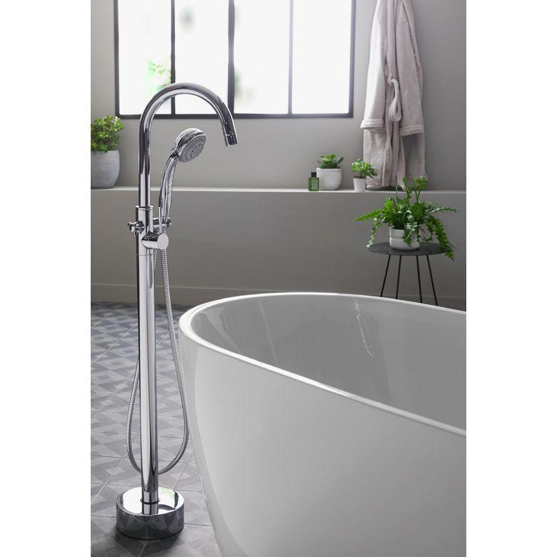 Mitigeur sur pied belize pour baignoire lot salle de bains for Baignoire sabot sur pied