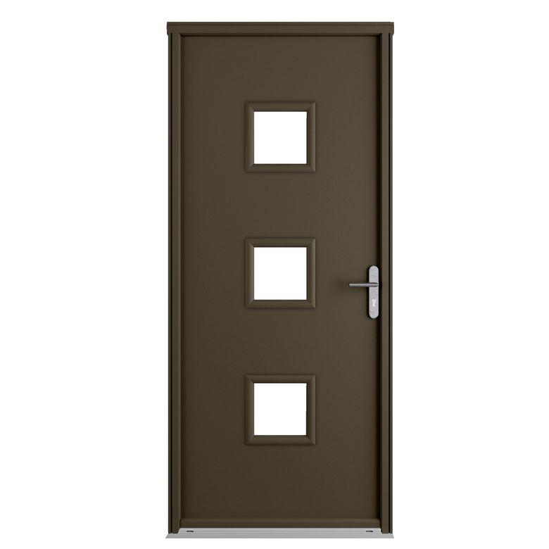 porte d 39 entr e n lia blanc acier portes. Black Bedroom Furniture Sets. Home Design Ideas