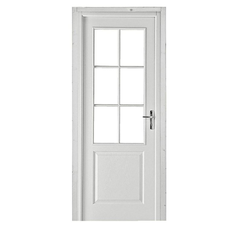 Bloc porte postform droite a vitrer portes Porte interieure vitree 83 cm