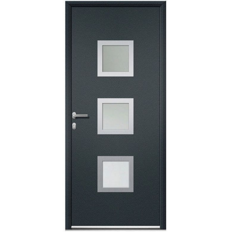 porte d 39 entr e quimper aluminium portes lapeyre. Black Bedroom Furniture Sets. Home Design Ideas