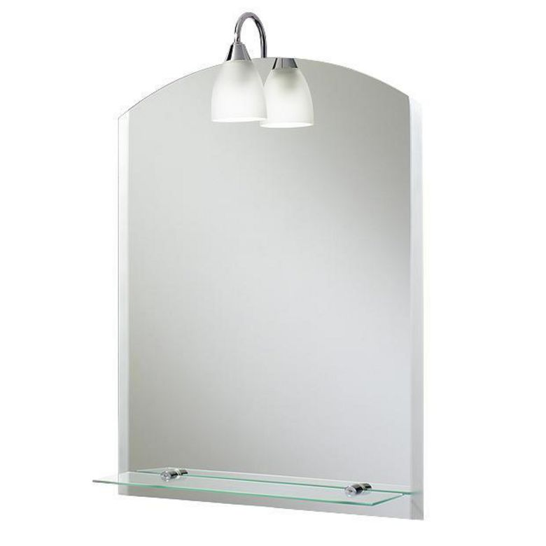 Miroir lumineux apollo salle de bains - Miroir salle de bain tablette ...