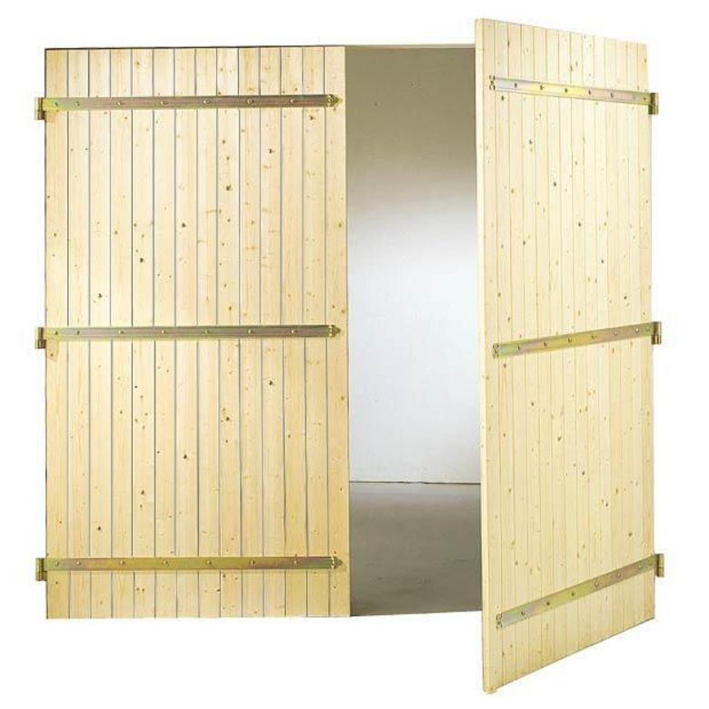 Porte de garage bois battante ext rieur - Porte garage double ...