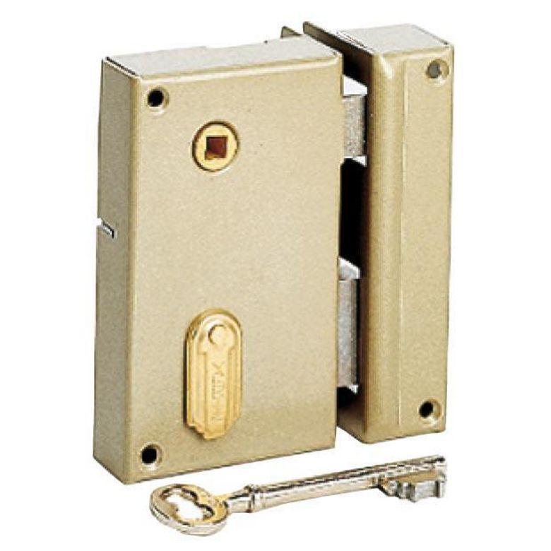 Serrure en applique monopoint 4 gorges gauche portes - Plan de serrure de porte ...