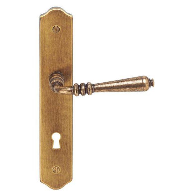 Poign e auvergne plaque cl portes - Poignees de portes interieures lapeyre ...