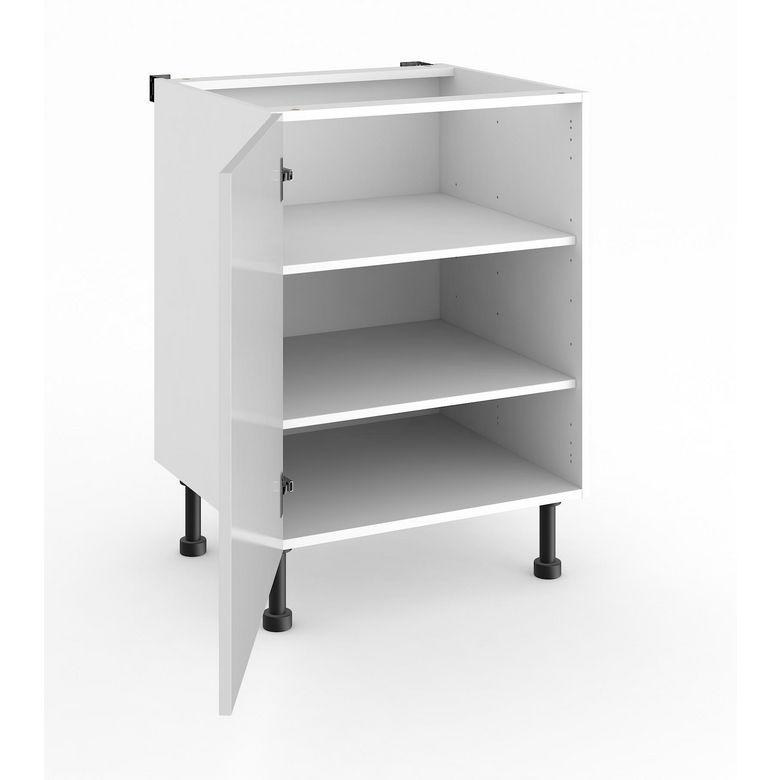 Meuble de cuisine bas 1 porte avec tablettes twist cuisine for Portes meubles cuisine lapeyre