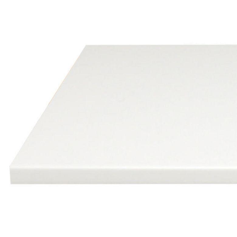Plan de travail blanc stratifi 28 mm cuisine for Plan de travail large