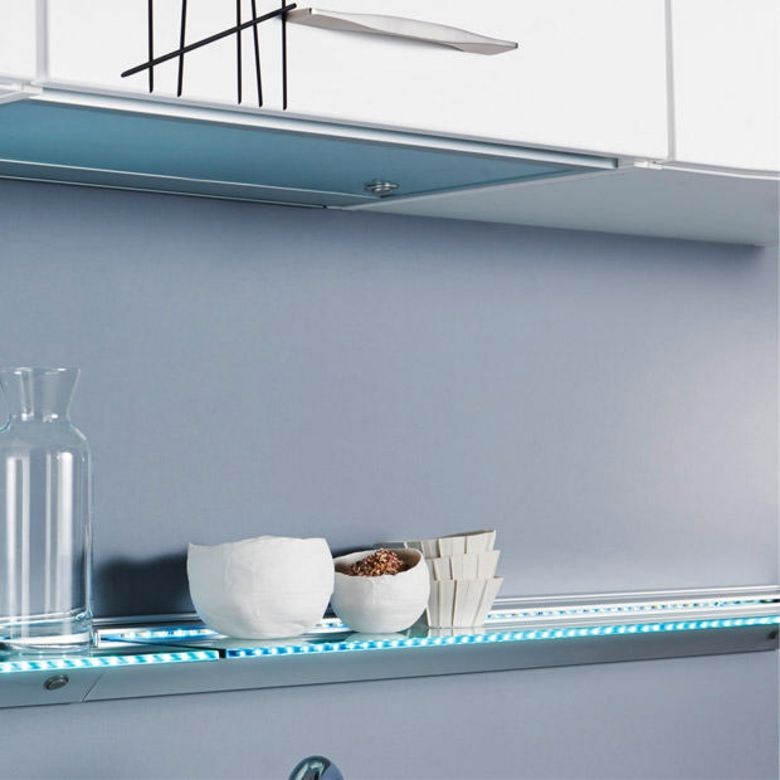 tablette verre lumineuse led cuisine. Black Bedroom Furniture Sets. Home Design Ideas