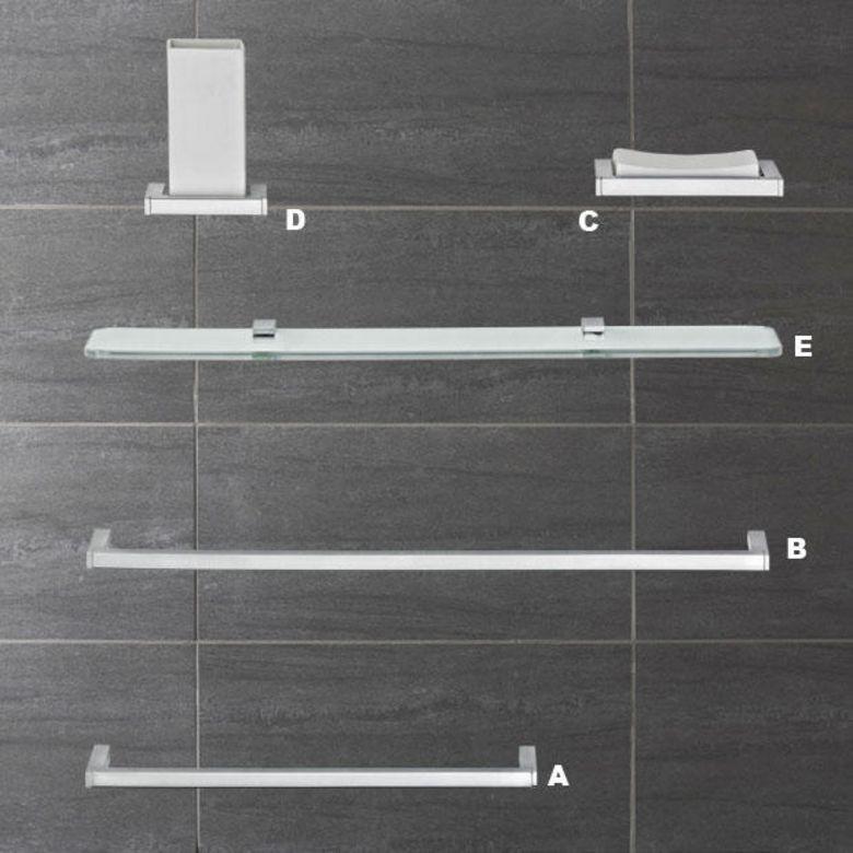Accessoires de salle de bains domino tablette en verre for Caillebotis pour salle de bain