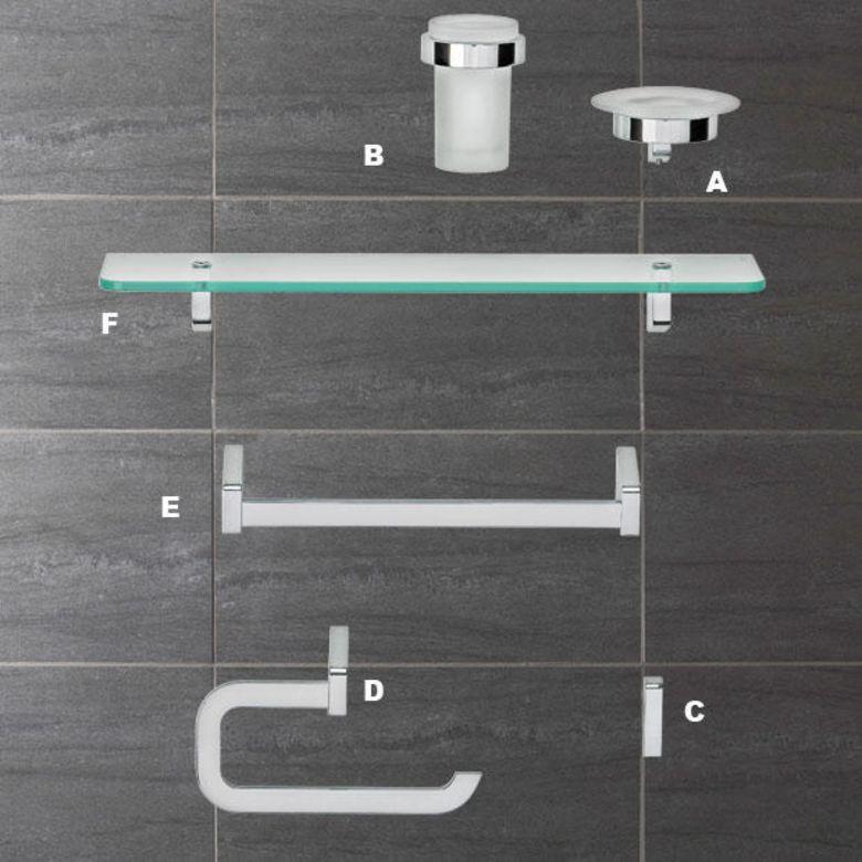 Accessoires de salle de bains PLAZZA - Tablette en verre - Salle de ...