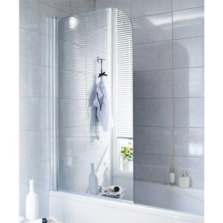 Pare baignoire en verre miroir droite tokyo salle de bains - Baignoire avec porte lapeyre ...