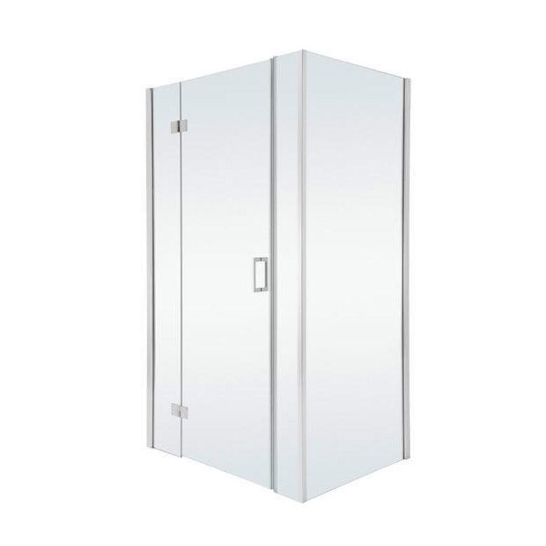 Porte de douche pivotante avec paroi de retour gauche for Porte de douche ronal