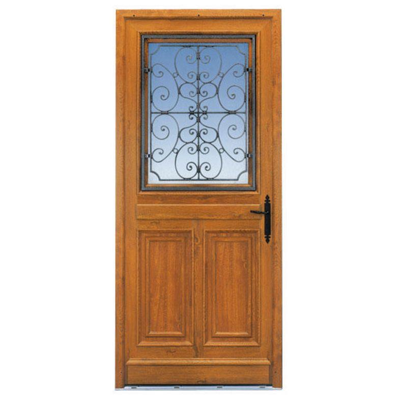 Porte d 39 entr e mansart pvc d cor bois portes for Lapeyre porte de service isolante