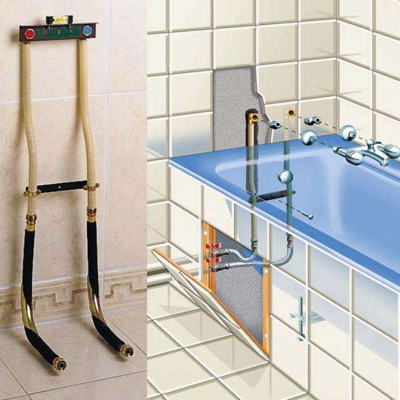 Kit de raccordement sans soudure pour baignoire salle de for Raccordement douche italienne