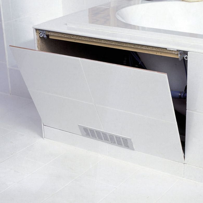 Trappe de visite pour baignoire salle de bains for Placo pour salle de bain