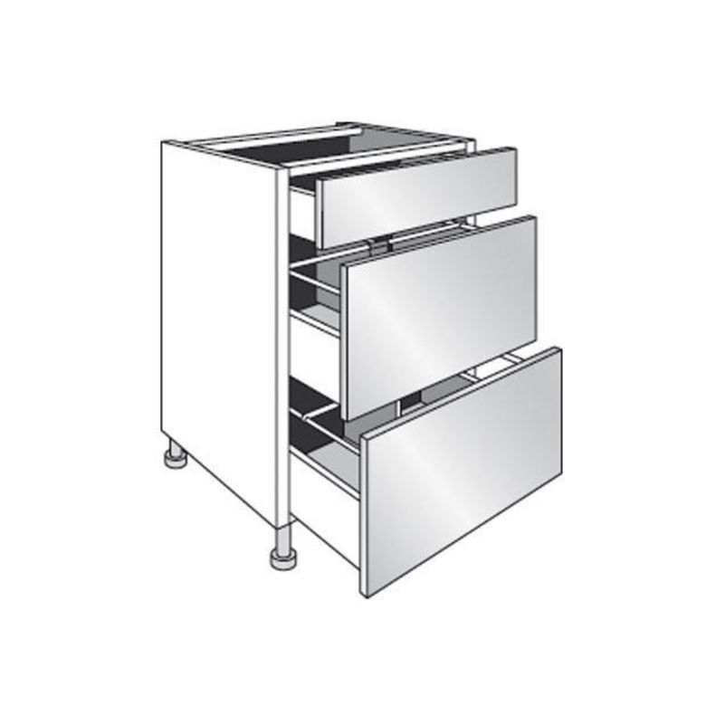 meuble de cuisine bas range casseroles avec 3 tiroirs. Black Bedroom Furniture Sets. Home Design Ideas