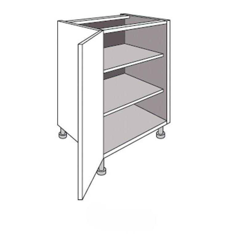 Meuble de cuisine bas 1 porte avec tablettes urban cuisine for Dimension meuble cuisine
