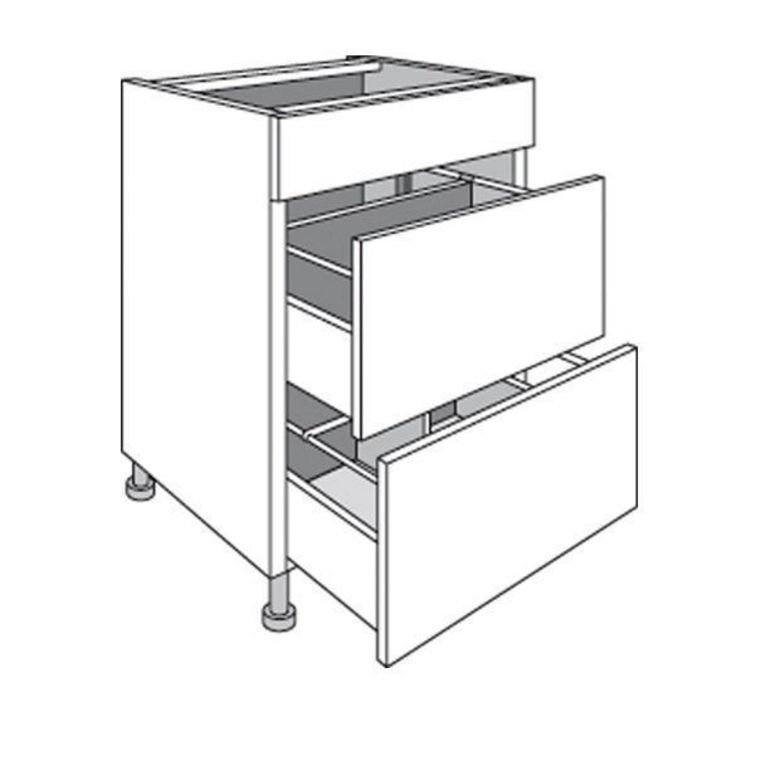 meuble de cuisine range casseroles avec 1 faux tiroir urban cuisine. Black Bedroom Furniture Sets. Home Design Ideas