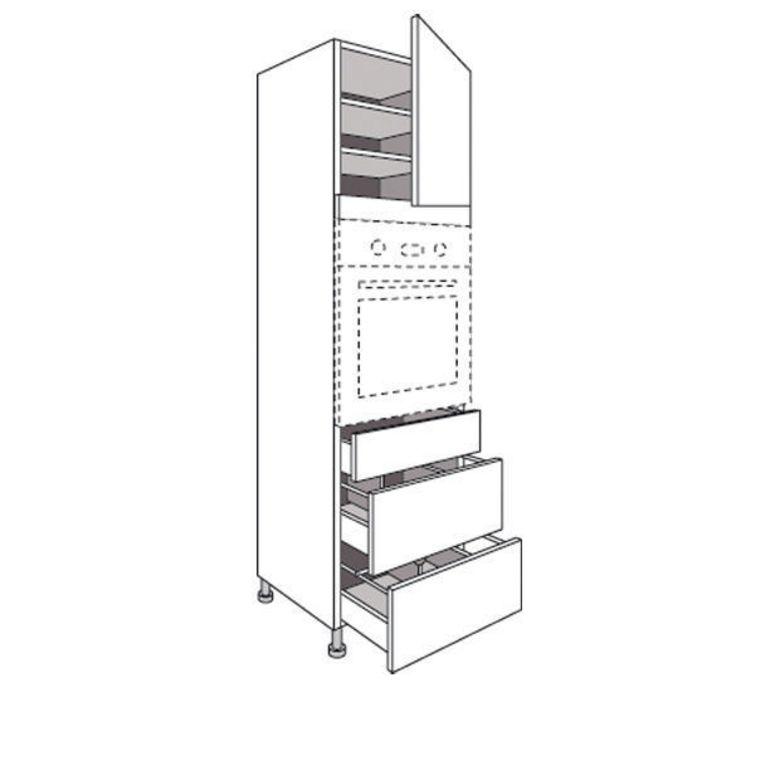 Colonne de cuisine pour four avec 3 tiroirs urban cuisine for Meuble colonne a tiroir